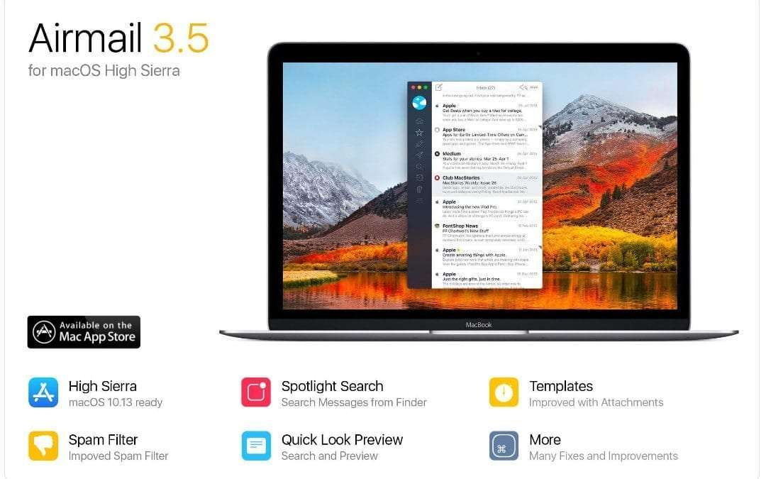 Airmail Version 3.5 Now Available and Compatible with macOS High Sierra NEWS