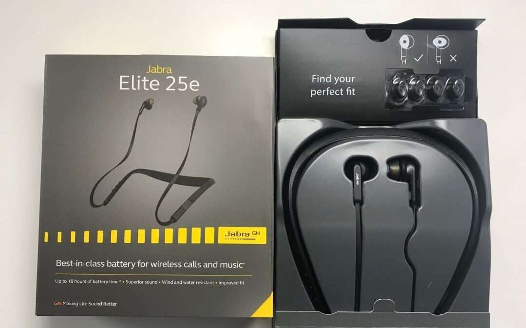 Jabra Elite 25e Earphones REVIEW Extra long Battery allows for all day comfortable listening experience.