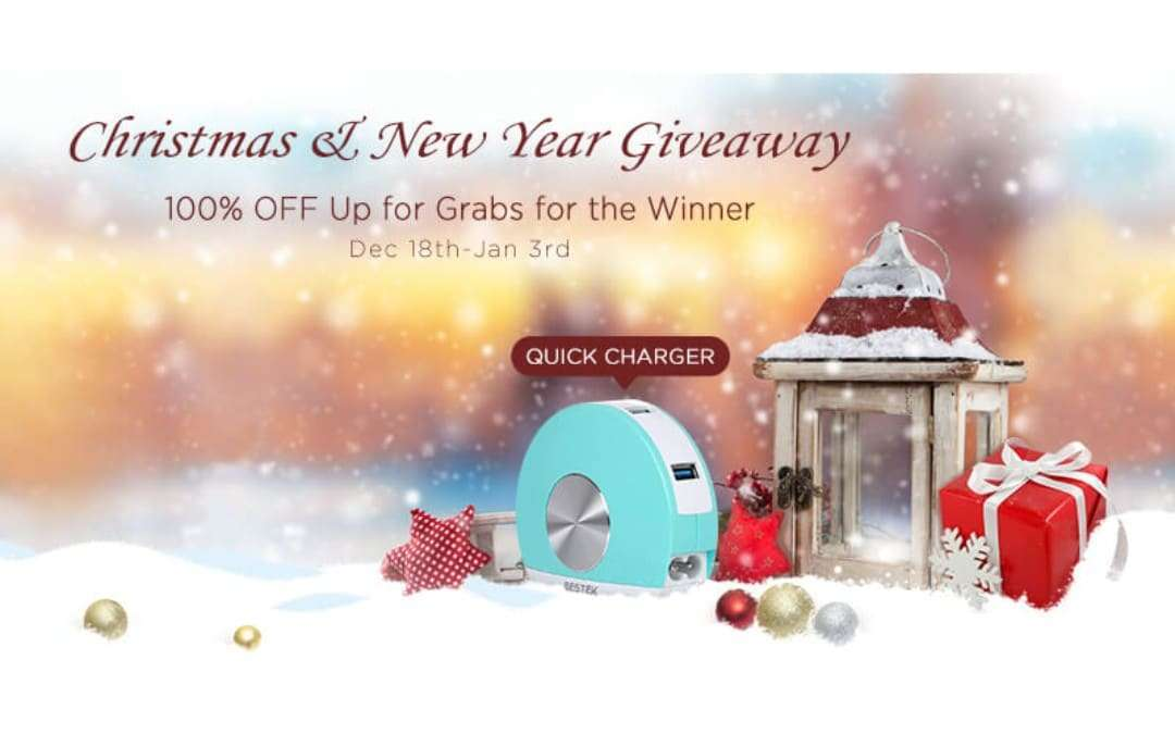BESTEK Great Christmas and New Year Giveaway