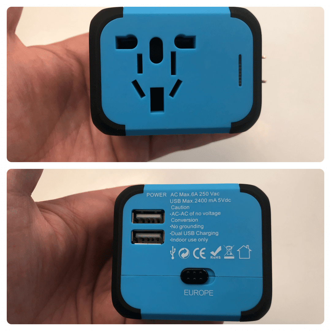 DuaFire Travel Adapter USB