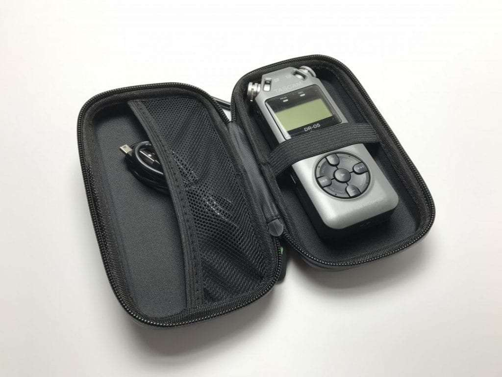 Keep accessories dry with this water-resistant case